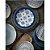 Conjunto de 04 Pratos Sobremesa em Melamina - Ø 22 cm - Linha Indochina - Azul / Branco - Imagem 6