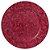 Sousplat Redondo Alto relevo Flores Decorado em Polipropileno 33cm Vinho - Imagem 1