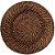 Sousplat Redondo Marrom Escuro em Rattan e Bambu Rústico 32 x 2,5 cm Trançado com Alta Resistência - Imagem 1