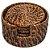 Porta Copos em Rattan 06 Peças Com Suporte 12 X 6 cm Rústico Mesa Posta Chique - Imagem 2