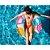 Boia Inflável Redonda Com Alça Fashion 90 Cm Colorida Divertida Verão Piscina Praia - Imagem 2