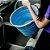 Balde Dobrável Clean 10 Litros Plástico Retrátil Azul Desmontável Organização Ocupa Pouco Espaço - Imagem 4