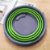 Balde Dobrável Clean 10 Litros Plástico Retrátil Verde Desmontável Organização Ocupa Pouco Espaço - Imagem 4