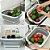 Tábua de Corte Bacia e Cesta Legumes Dobrável 3 em 1 Retrátil Multifuncional Escorredor Organização  - Imagem 2