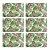 Jogo Americano Retangular 06 Lugares Polipropileno Cozinha Mesa Posta Estampado Costela de Adão - Imagem 1