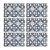 Jogo Americano Polipropileno Retangular 06 Lugares Estampado Blue Tiles Cozinha Mesa Posta  - Imagem 1