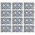 Jogo Americano Polipropileno Retangular 12 Lugares Estampado Blue Tiles Cozinha Mesa Posta  - Imagem 1