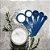 Conjunto 05 Colheres Medidoras de Sopa e Chá Plástico Azul Fackelmann Premium Cozinha Confeitaria - Imagem 2