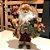 Papai Noel LUxo Roupa Vinho com Colete 41cm Decoracao Natalina Boneco Decorativo Enfeite de Natal - Imagem 2