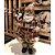 Papai Noel  Decoracao Natalina Boneco 46 cm Enfeite Luxo Xadrez Scoth Saco de Presentes Resina - Imagem 2