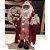 Papai Noel de Pijama Listrado Cartas 41 cm Decoracao Natalina Boneco Enfeite de Natal Presente - Imagem 5