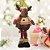 Rena de Natal Em Pé 46 cm com Roupa Xadrez Decoracao Natalina Enfeite Pelucia Papai Noel - Imagem 2