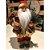 Papai Noel Decoracao Natalina Boneco Enfeite de Natal Luxo 30 cm Xadrez Vinho Presentes - Imagem 6