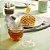 Meleira em Acrílico Transparente Colmeia com Tampa Onyx 15 cm Mesa Posta Cozinha Completa Premium - Imagem 2