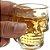 Jogo Licoreira Garrafa e 4 Copos Para Shot em Vidro Transparente Caveira Cranio Bebida Bar  - Imagem 3