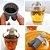 Infusor de Chá Boneco em Silicone Difusor Mister Tea 8 cm Divertido Moderno Cinza  - Imagem 4
