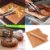 Kit 2 Manta Grill Antiaderente Para Churrasco Dourada Fibra de Vidro e Teflon Não Gruda Assar Forno - Imagem 1