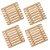 Kit 04 Descanso de Panela e Travessa Suporte Apoio Quadrado em Bambu 17 cm Mesa Posta Servir - Imagem 1
