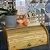 Porta Pão em Bambu Com Tampa Retratil Organizador de Cozinha 40 x 27cm Natural Premium Clássico  - Imagem 2