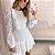 Vestido Lore Poá Branco - Imagem 1