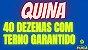 Planilha Quina - 40 Dezenas Se Acertar 3 Já tem o Terno - Imagem 2