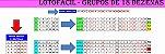 Planilha Lotofacil - Jogue Com 12 Grupos De 18 Dezenas - Imagem 1