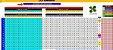 Planilha Lotomania - 80 Dezenas Com 4 Grupos De 20 Fixas - Imagem 1