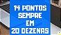 Planilha Lotofacil - Redução de 25 Dezenas em Linhas de 20 com 14 Pontos Sempre - Imagem 3