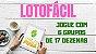 Planilha Lotofacil - Jogue com 6 Grupos De 17 Dezenas e Garantia - Imagem 2