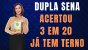 Planilha Dupla Sena - Esquema 20 Dezenas se Acertar 3 já tem Terno - Imagem 2