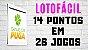 Planilha Lotofacil - Esquema 12 Dezenas Fixas com Garantia de 14 Pontos - Imagem 2