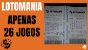 Planilha Lotomania - Esquema 30 por 30 em 26 Jogos - Imagem 2
