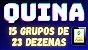 Planilha Quina - Jogue com 15 Grupos de 23 Dezenas - Imagem 2