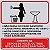 PLACA INDICATIVA - BANHEIRO FEMININO (AVISO DE USO)  - Imagem 1