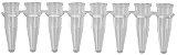 Microtubo de PCR em Tiras de 8x200ul, Transparente. sem Tampa, pacote com 125 tiras, mod.: PCR-0208-C (Axygen) - Imagem 1