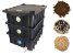 Kit Completo - Composteira Doméstica Minhocário - 15 Litros (1-2 Pessoas) + Minhoca + Serragem + substrato - Imagem 1