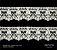 Renda Algodão com Tule PW10331 / CRU PCT C/ 10.00m Larg. Aprox.: 35mm Composição: 100% Algodão  - Imagem 2