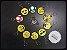 Chaveiro Emborrachado Emoji Emoticons 110 Peças - Imagem 2