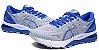 Tênis Asics Gel Nimbus 21 - Masculino - Cinza e Azul - Imagem 3