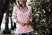 Blusa em tricot rose com belo trabalho em tiras :) - Imagem 1