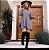 Mini vestido barra assimétrica - Cinza - Imagem 2