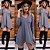 Mini vestido barra assimétrica - Cinza - Imagem 1