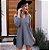 Mini vestido barra assimétrica - Cinza - Imagem 3