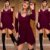 Mini vestido barra assimétrica - Marsala - Imagem 2