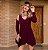 Mini vestido barra assimétrica - Marsala - Imagem 1
