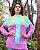 Suéter em tricot lilás e verde - Imagem 2