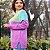 Suéter em tricot lilás e verde - Imagem 3