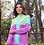 Suéter em tricot lilás e verde - Imagem 1