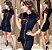 Vestido black and red com pérolas - Imagem 1