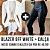 COMBO BLACK - Blazer off white + Calça couro eco na frente e neoprene atrás - Imagem 2